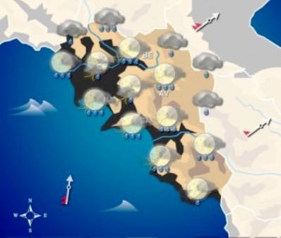 Maltempo, allerta meteo gialla nella regione per piogge e temporali