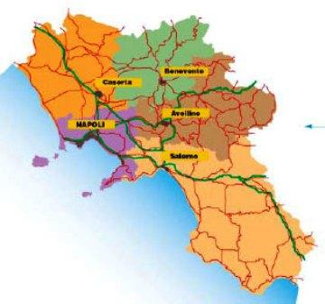 Un campano su 2 vive nella provincia di Napoli, segue Salerno (19%), Caserta (15,7), Avellino (7,4), Benevento (4,9)