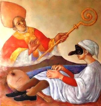"""Dal 2 febbraio in biblioteca una mostra di Franco Porcasi: """"Pulcinella, una maschera vesuviana"""""""