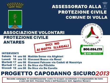 """""""Dici no ai botti illegali"""": L'iniziativa promossa dal Comune di Volla"""