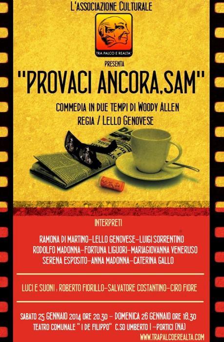Tra Palco e Realtà in Provaci ancora Sam: una commedia di W. Allen al Teatro De Filippo di Portici