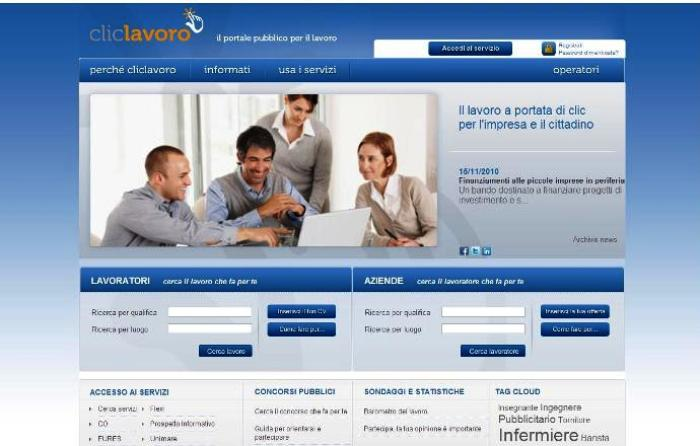 Cliclavoro, il lavoro si cerca sul web. Ad iniziativa della Regione