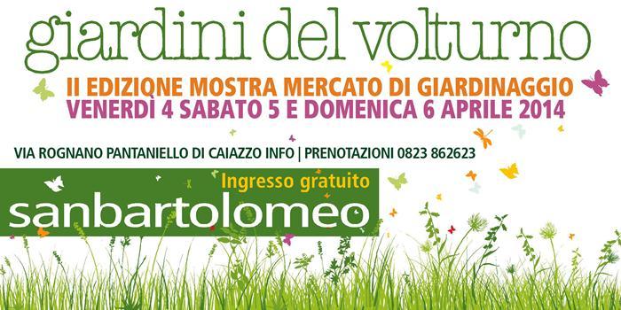 """""""I giardini del volturno"""" . II edizione della Mostra Mercato di fiori, piante e tutto quanto fa giardino"""