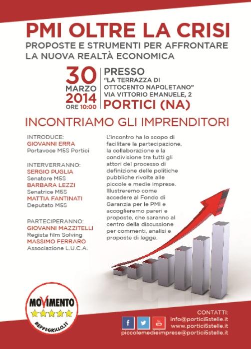 A Portici, 5 Stelle e le piccole-medie imprese uniti per affrontare la crisi economica