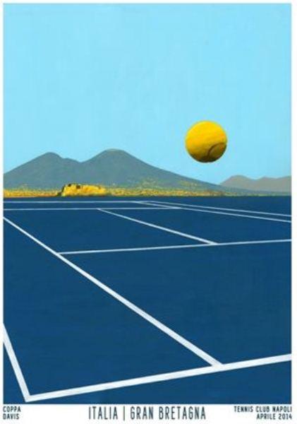 L'arte sposa lo sport . Gennaro Regina realizza 4 affiches in esclusiva per la Coppa Davis