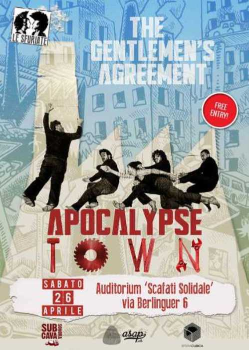 """Apocalypse Town Tour"". The Gentlemen's Agreement Live @ Auditorium Scafati Solidale"