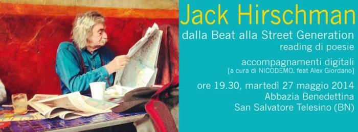 Dalla Street alla Beat Generation: reading con Jack Hirschman con artigianato musicale elettronico di NICODEMO & Co. (Feat. Alex Giordano)