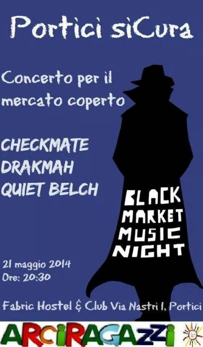 "Black Market Music Night: ""Portici ha un'anima da curare"""