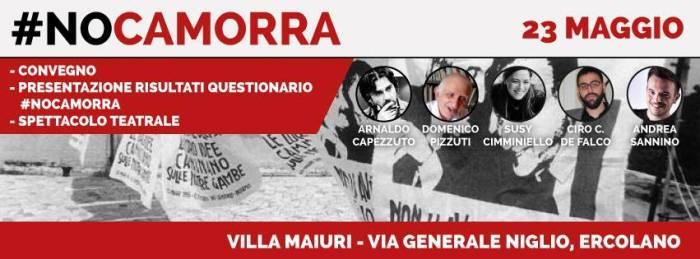 Il Forum dei Giovani in #NoCamorra: Venerdì 23 Maggio, a Villa Maiuri (Ercolano), il convegno conclusivo