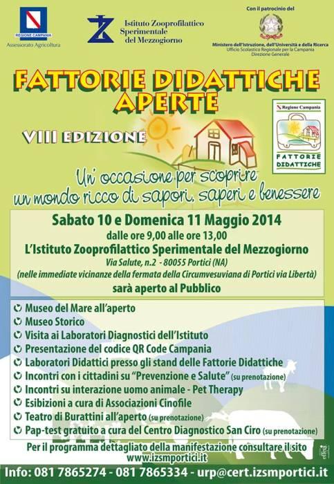 """Al via l'evento """"Fattorie Didattiche"""" presso l'Istituto Zooprofilattico Sperimentale del Mezzogiorno di Portici"""