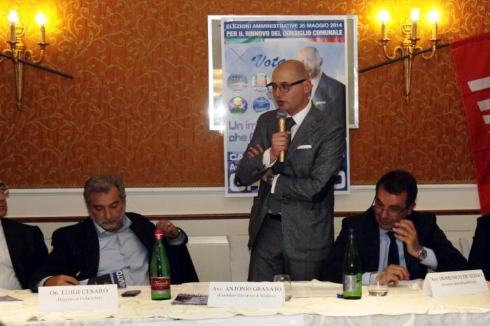 """Parte la campagna elettorale di Antonio Granato. De Siano: """"Al prossimo incontro ci sarà anche Berlusconi"""""""