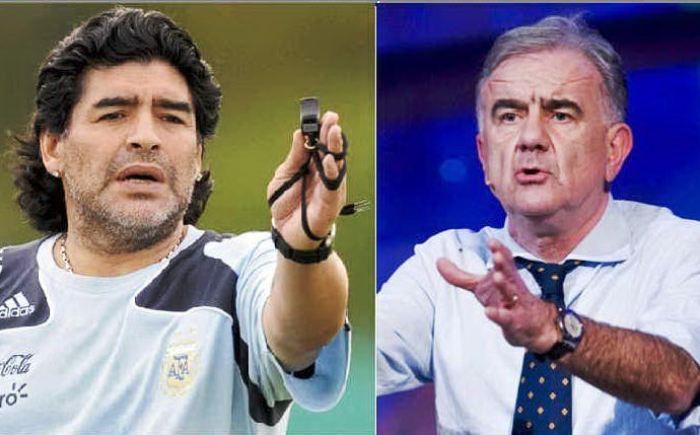Maradona in Procura a Napoli per depositare la querela a Gene Gnocchi