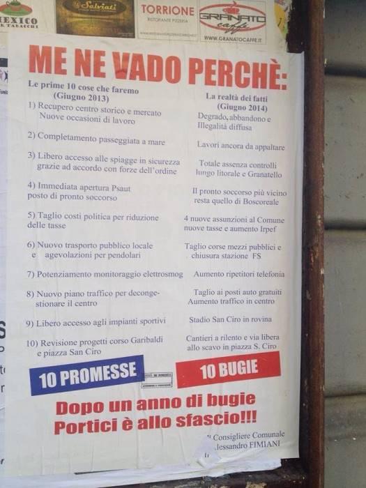 """Portici. Politica """"al veleno"""": """"L'ex"""" Fimiani accusa Nicola Marrone e la sua maggioranza."""