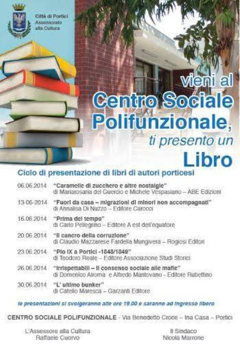 """A Portici """"Ti presento un libro"""": la Cultura per combattere la Periferia"""