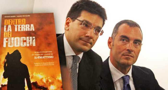 """""""Dentro la terra dei fuochi"""", alla Feltrinelli presentato il libro inchiesta di Ausiello e Del Gaudio in vendita allegato a Il Mattino"""