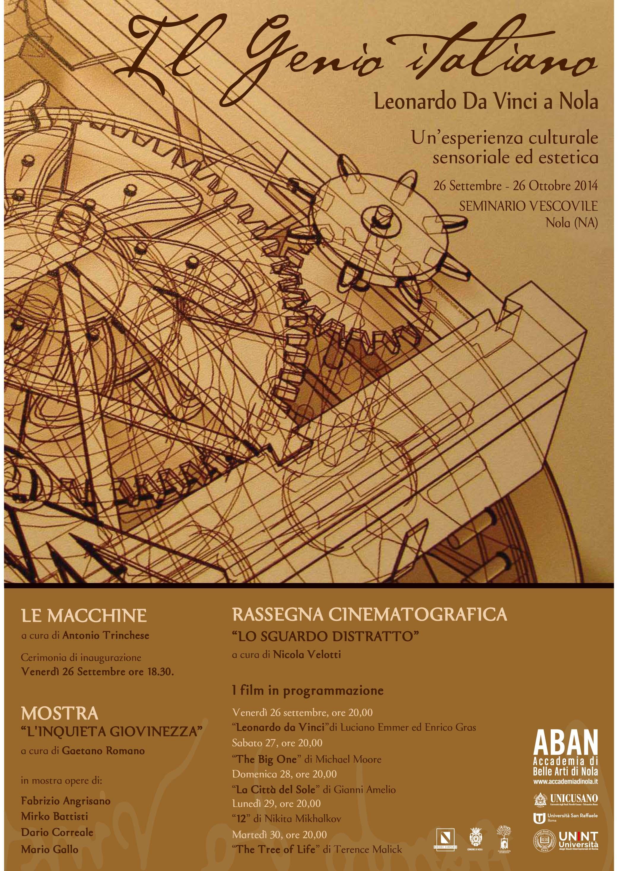 A Nola, una mostra dedicata al Genio Italiano, Leonardo Da Vinci