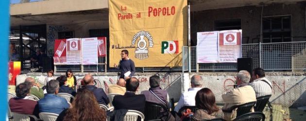 """Anche Pomigliano ha la sua Leopolda: parte domani """"La Locomotiva"""" del Pd alla vecchia stazione della Circumvesuviana"""