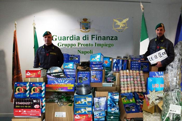 Natale sicuro per la Guardia di Finanza:  142 chilometri di led sequestrati perché pericolosi