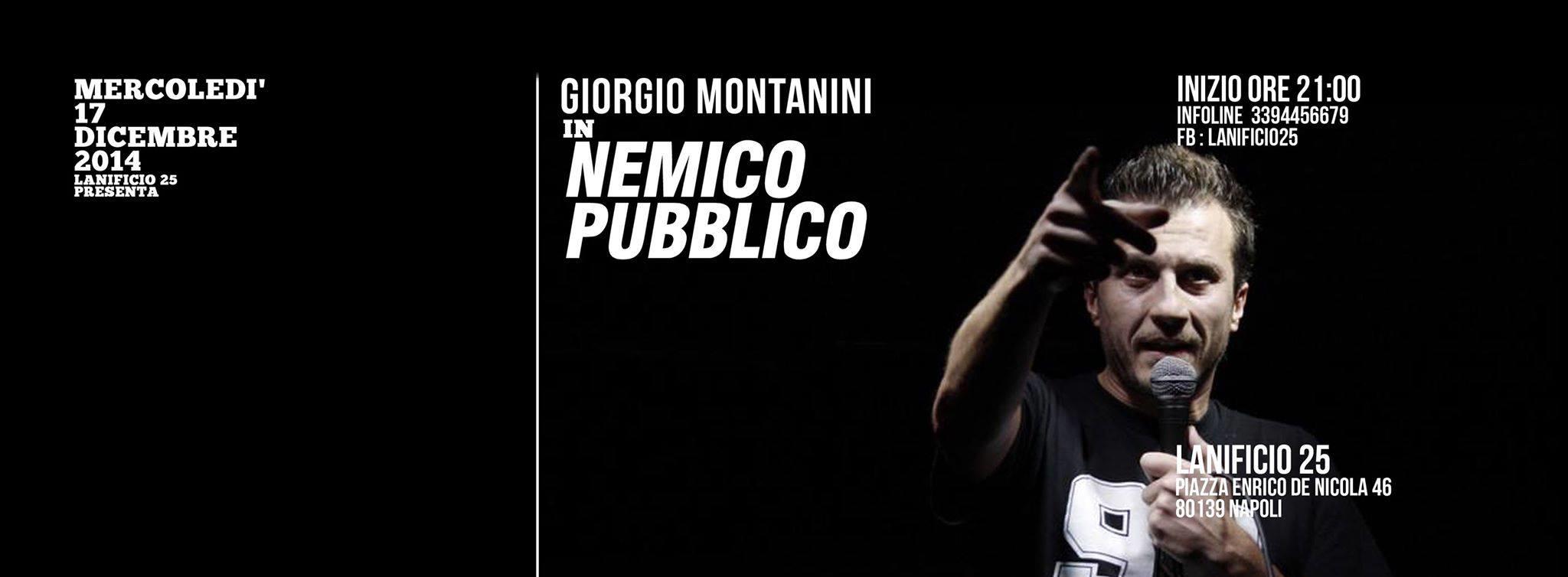 Il comico Giorgio Montanini per la prima volta a Napoli, di scena al Lanificio25 mercoledì 17 dicembre.