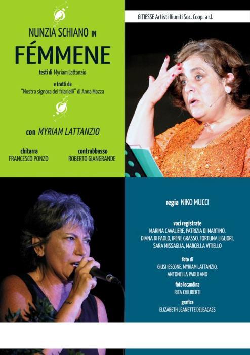 Allo Start-Interno 5 Nunzia Schiano è Femmene, di e con Myriam Lattanzio