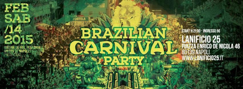 Al Lanificio 25, un'esplosione di coriandoli, samba ed allegria: è il Carnevale brasiliano.