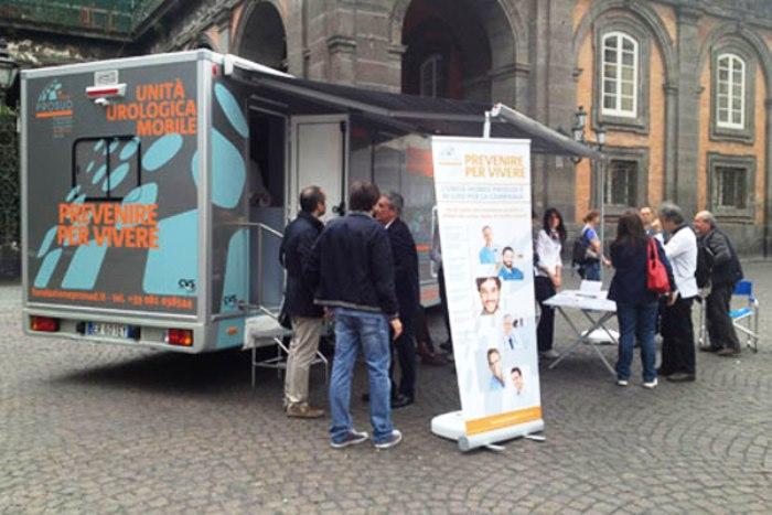 Prevenzione gratuita del tumore alla prostata: il 28 febbraio il Camper Prosud a piazza Trieste e Trento