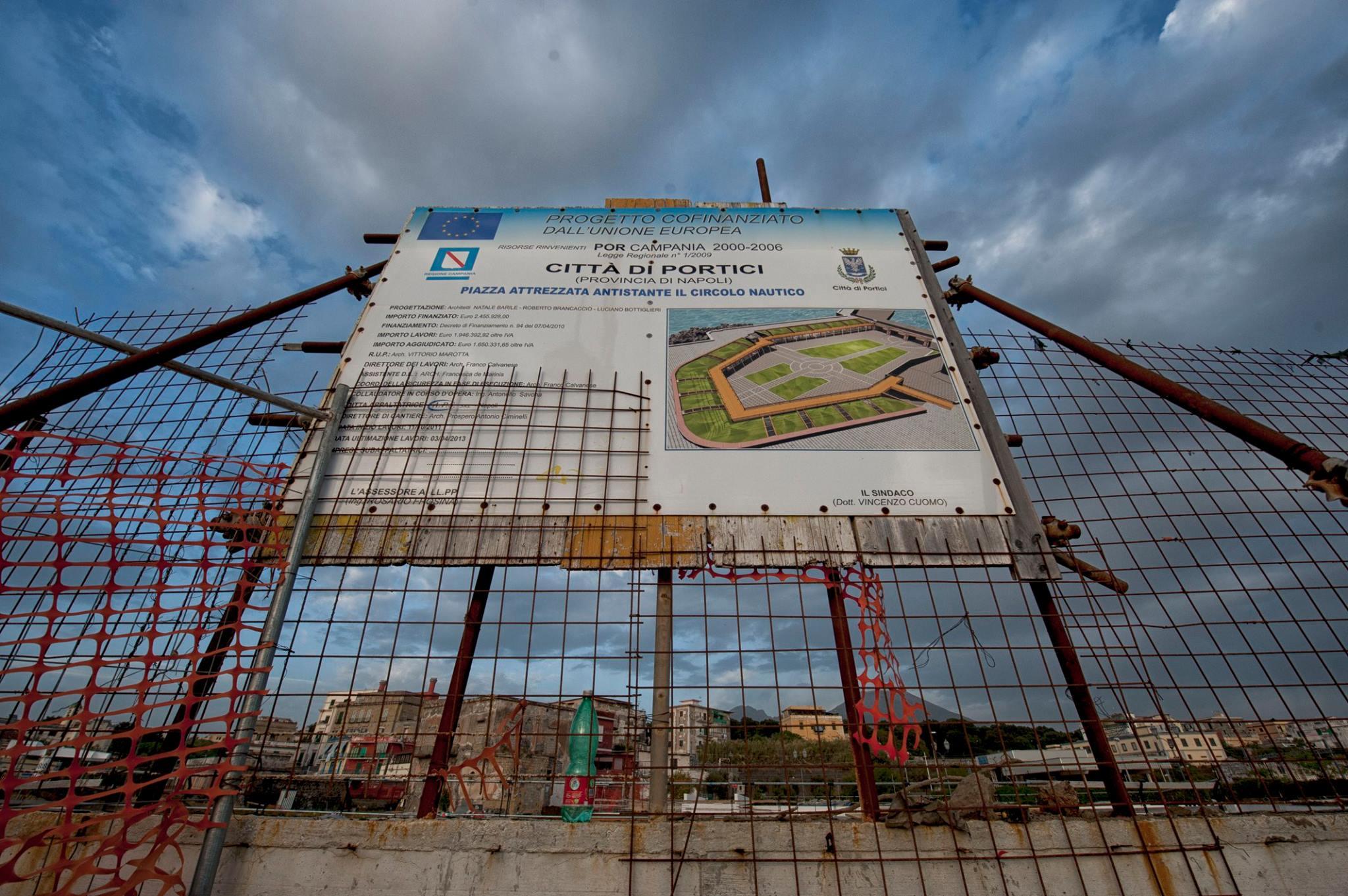 """Portici: sbloccati i fondi per Piazzetta Montedison: """"Riqualificheremo l'intero tratto costiero"""""""