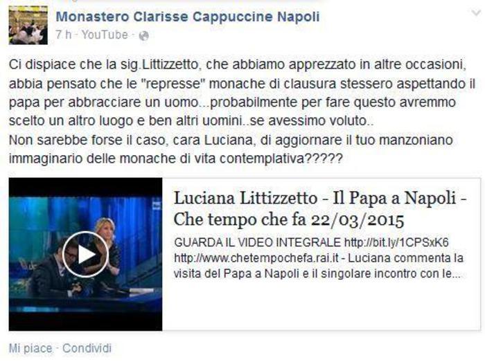 """Le suor di clausura che hanno """"assalito"""" il Papa: """"Littizzetto aggiornati dalla manzoniana idea di suora"""""""