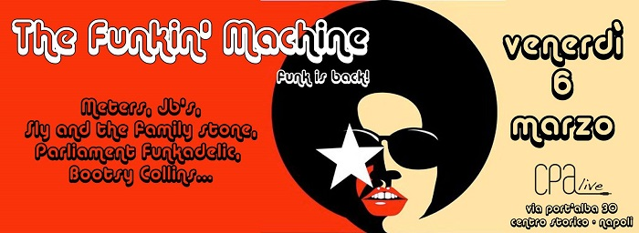 Un venerdì al ritmo di funk per il pubblico di CPA live con il collettivo, The Funkin' Machine.