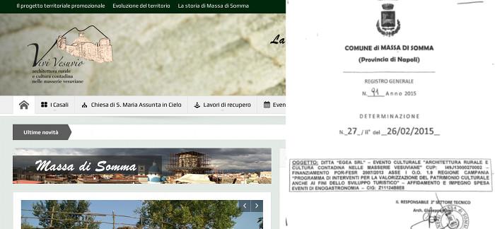 A Massa di Somma il rilancio delle masserie vesuviane è costato 310mila euro. Spesi anche 10mila euro per degustazioni