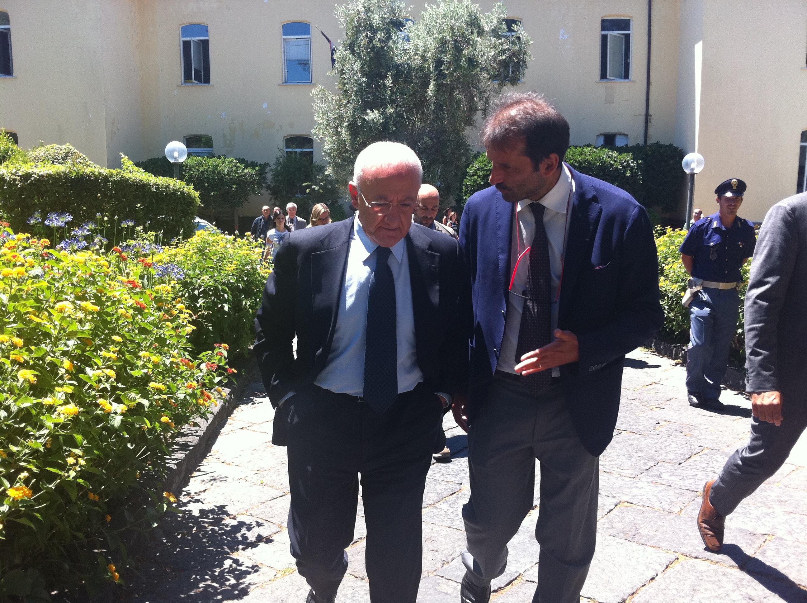 Il Presidente De Luca a Portici per combattere la Terra dei Fuochi