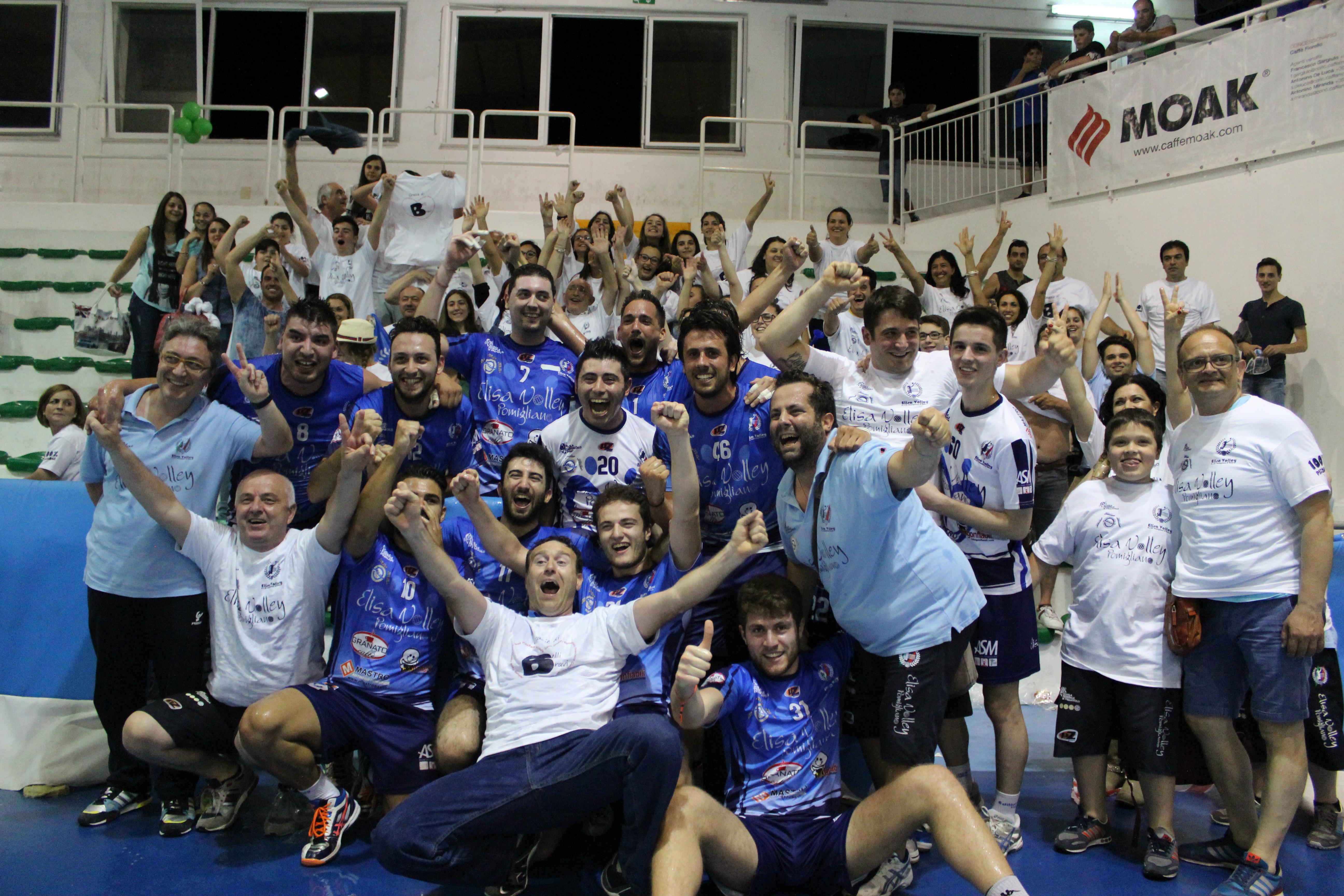 Pomigliano approda in serie B, Elisa Volley straccia Folgore Massa e conquista la serie nazionale