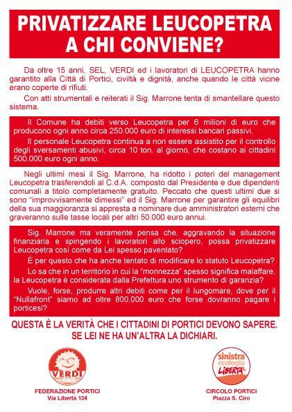 """""""Privatizzare la Leucopetra"""": a Portici è scontro tra la sinistra radicale e la maggioranza di Nicola Marrone"""