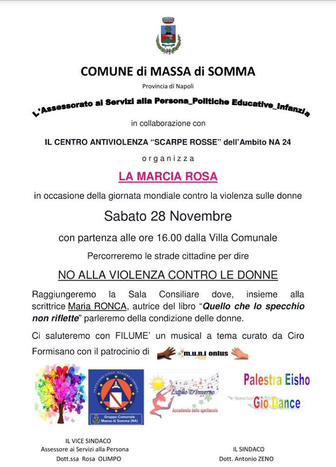 A Massa di Somma una Marcia Rosa per gridare NO alla Violenza