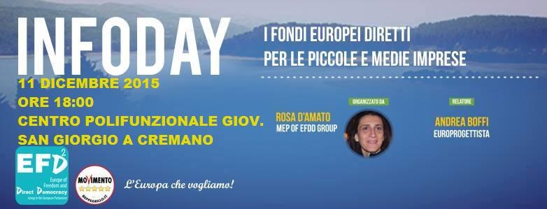 """S. Giorgio a Cremano. Questa sera """"l'Infoday"""" del M5S: """"come possono accedere le PMI ai Fondi Europei?"""""""