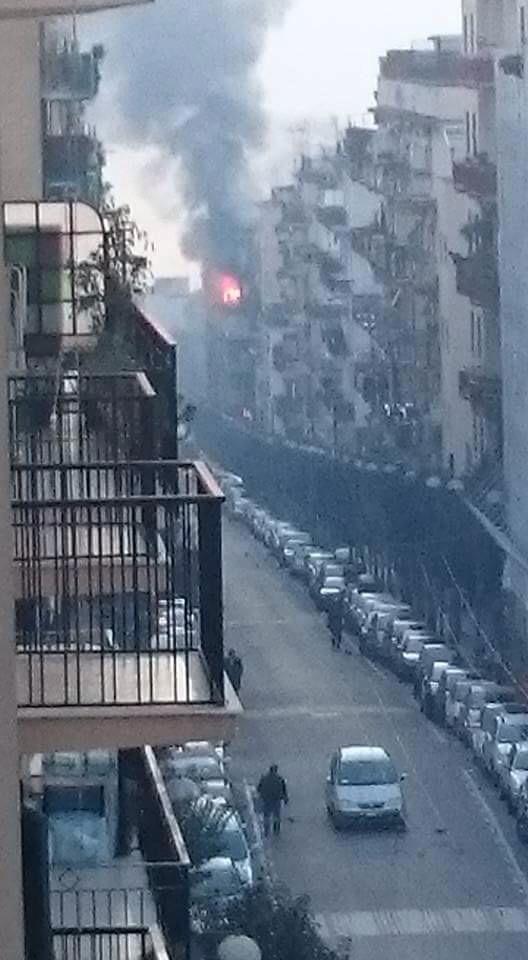 Natale col fuoco a Portici. Incendio a Via Libertà