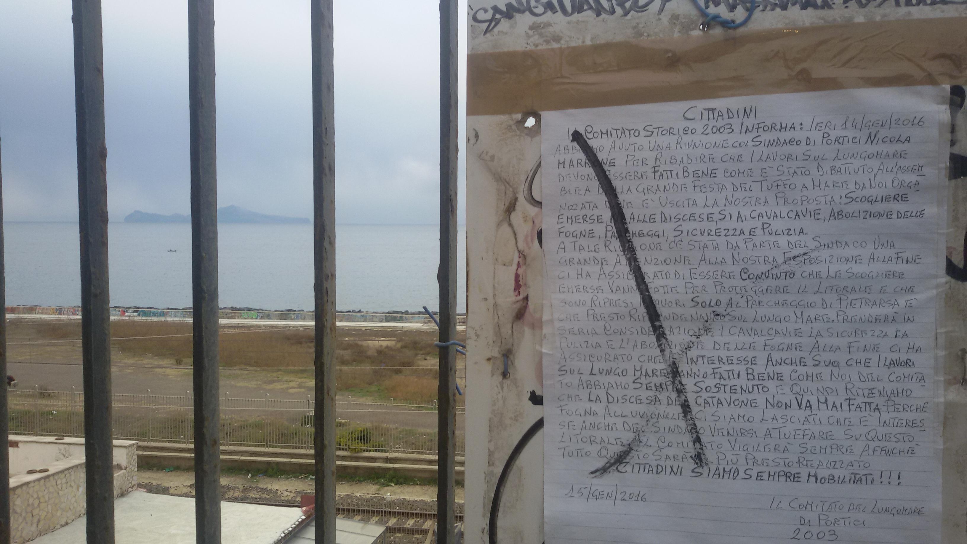 Portici. Cominciati i lavori del waterfront da Pietrarsa. I Comitati civici avanzano richieste al sindaco Marrone