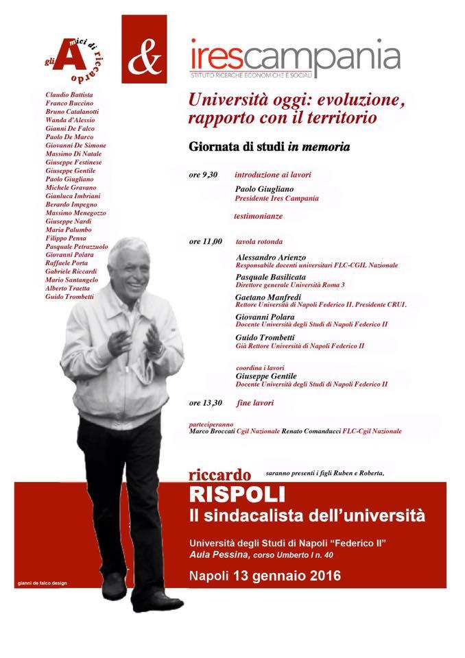 Rispoli, il sindacalista dell'Università: giornata di studi in memoria di Riccardo tra l'evoluzione e il rapporto col territorio