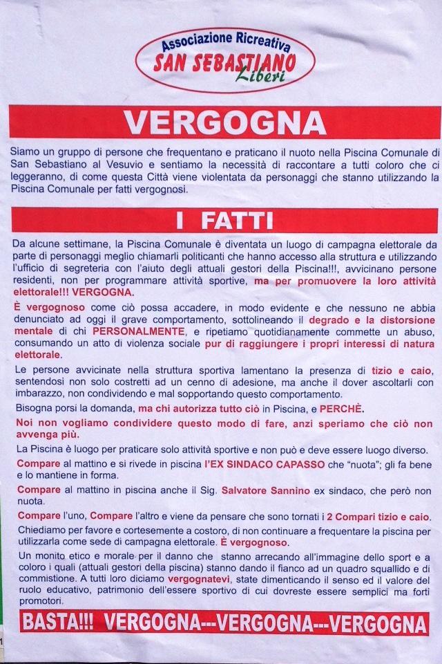 Manifesti e dicerie: ecco il teatrino delle dopo Primarie a San Sebastiano al Vesuvio