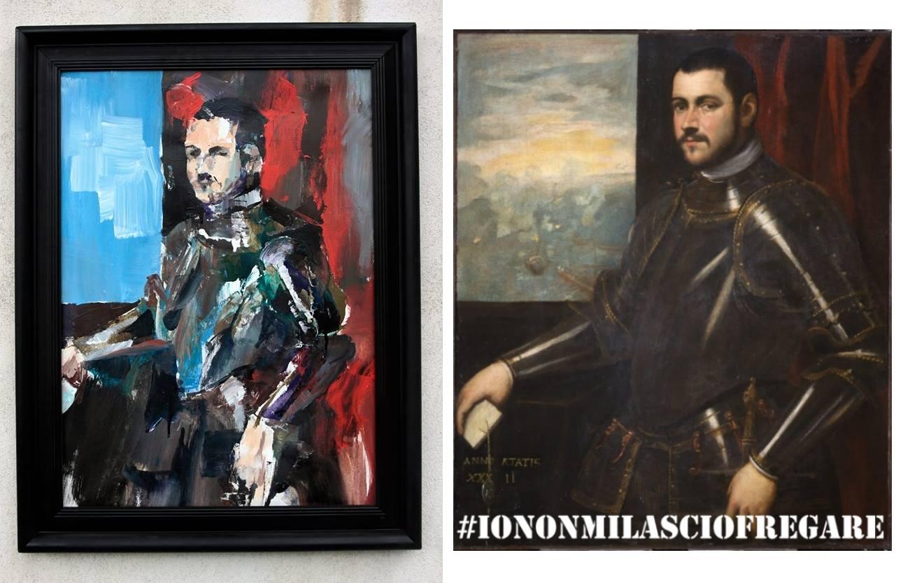 """Da Verona a Napoli """"Io non mi lascio fregare"""": la protesta artistica di Walter Molli sul clamoroso furto di Castelvecchio"""