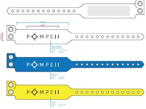 Agli Scavi di Pompei come in disco o al villaggio: si entra col braccialetto elettronico