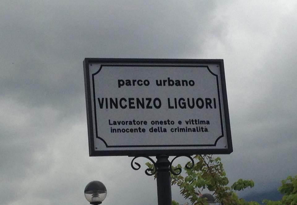 Il Parco urbano di via Aldo Moro è stato titolato alla memoria di Vincenzo Liguori, ammazzato dalla camorra mentre lavorava onestamente