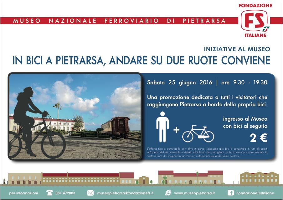Prove di bike-sharing a Portici. In bici in visita al Museo di Pietrarsa