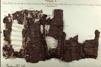 Papiri ercolanesi 'letti' ai raggi X: una ricerca del Cnr su due rotoli ne preserva l'integrità
