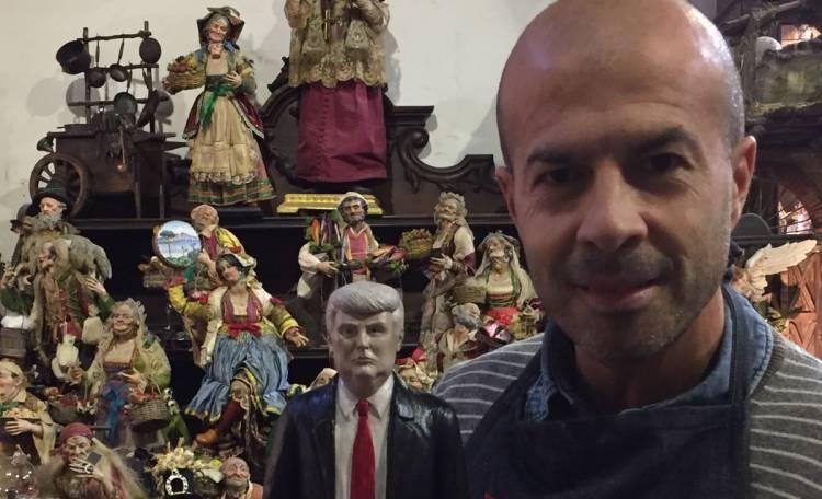 Donald Trump è il 45° presidente degli Stati Uniti d'America e finisce sul presepio a San Gregorio di Marco Ferrigno