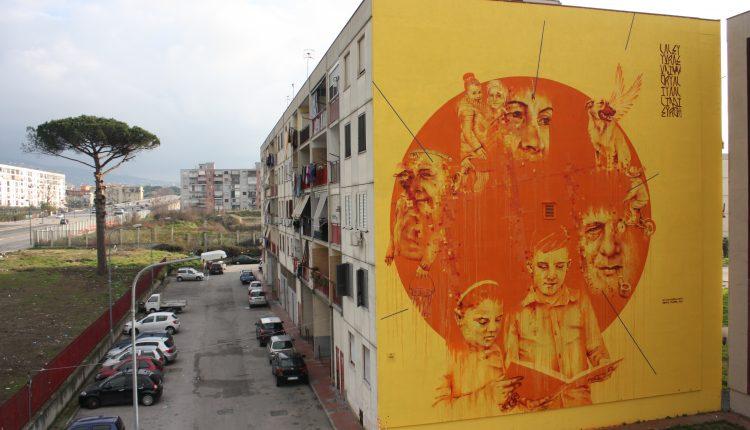I colori che raccontano il sogno di riscatto del ghetto, NapoliEst: tra degrado e arte contemporanea internazionale
