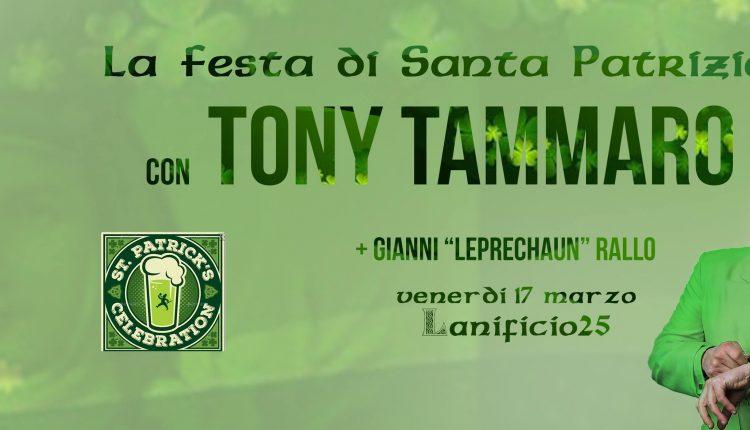 """Ecco la  Festa di Santa Patrizia: l'imperdibile concerto di Tony Tammaro e il DjSet di Gianni """"Leprechaun"""" Rallo"""