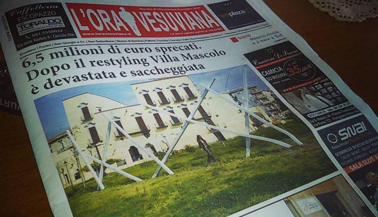 """Accordo tra Accademia della Belle Arti, Comune di Portici e Gepagroup Scarl: un """"polo"""" culturale a Villa Mascolo"""