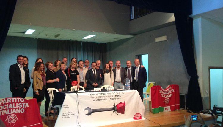 """Portici verso il voto – Il PSI presenta al pubblico la lista alla presenza dell'onorevole Enzo Maraio: """"Diamo risposte reali ai cittadini"""""""