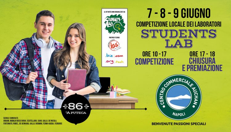 """Centro commerciale """"Gallerie Auchan Napoli"""" di via Argine la Competizione locale Students Lab"""
